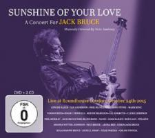 Sunshine Of Your Love - A Concert For Jack Bruce - (Doppel CD + DVD - VÖ: 25.10.2019)