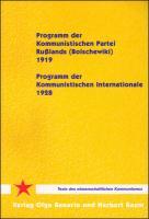 Programm der Kommunistischen Partei Rußlands (Bolschewiki) - 1919